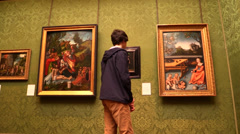 Art gallery Stock Footage