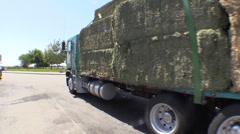 Truck stop, big rig semi trucks Stock Footage
