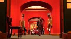 Art gallery Stock Footage