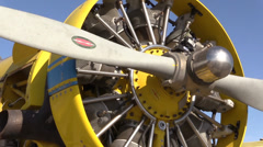 California Farming,  Crop duster, rotary engine Stock Footage