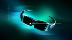 3D Glasses animation Stock Footage