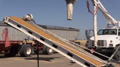 California Rice Farming , loading seeds Stock Footage