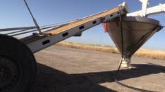 California Rice Farming, loading seeds Stock Footage