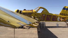 California Farming,  Crop duster on tarmac Stock Footage