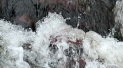Roiling River Water Slow Motion Close Up - 25FPS PAL Stock Footage