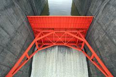 Water gate - stock photo