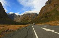 Stock Photo of Milford Sound Highway New Zealand