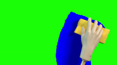Sponge cleaning - Transition video - stock footage