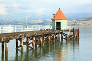 Stock Photo of Akaroa jetty New Zealand
