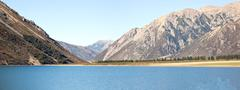 Lake Pearson Arthur's pass National Park New Zealand - stock photo