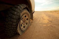 Flat Tyre Stock Photos