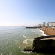 Brighton Beach Shoreline Stock Photos
