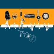 Mechanical spirit - stock illustration