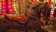 Stock Video Footage of Carousel Horse Merry Go Round Carnival Fair Amusement Ride