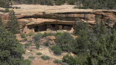 Mesa Verde Spruce Tree House Indian cliff house HD 063 Stock Footage
