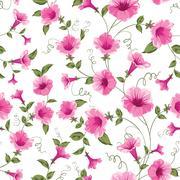 Design of vintage floral card. Stock Illustration