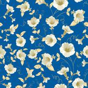 Bindweed samless pattern. Stock Illustration