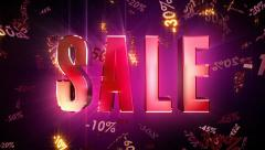 Sale Loopable Animation Stock Footage