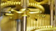 Stock Video Footage of 4K macro clock gears mechanism 5x2