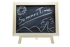 Summer time on blackboard Stock Illustration