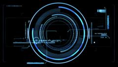 Futuristic viewfinder Stock Footage