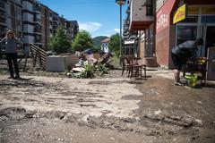 flood in 2014 - maglaj - bosnia and herzegovina - stock photo