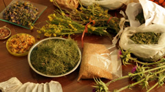 Dried herbs Stock Footage