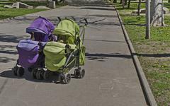 Baby pram - stock photo