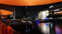 4k Ultra HD time lapse video of Singapore River night scene.(TL--SG RIVER 2) Stock Footage