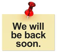 We will be back soon. - stock illustration