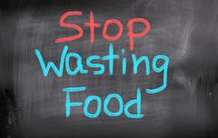 Stop wasting food concept Stock Illustration