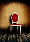 Classical white armchair Stock Illustration