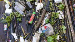 Consequences of urban water pollution in Bangkok, Thailand Stock Footage