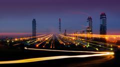 pulse of metropolis - stock photo