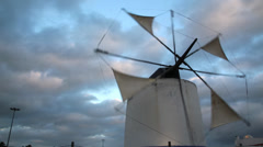 Wind mill,Castro Verde Portugal Stock Footage