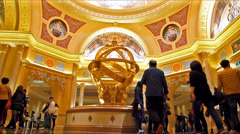 Time Lapse  The Venetian Macau Casino Hotel lobby with Mainland Chinese guests Stock Footage