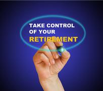 take control of your retirement - stock illustration