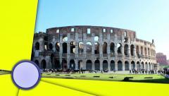 Coliseum, Rome, Italy Stock Footage