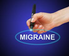 migraine - stock illustration