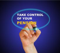 Take control of your pension Stock Illustration