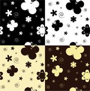 seamless monochrome - stock illustration