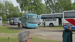 Tourist coaches at coach parking Arkistovideo