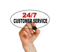 24/7 customer service - stock illustration