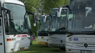 Stock Video Footage of tourist coaches at coach parking