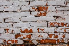 plastered brick wall surface texture - stock photo