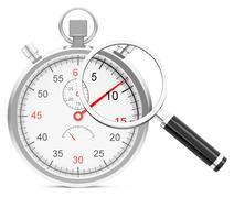 Time analysis Stock Illustration