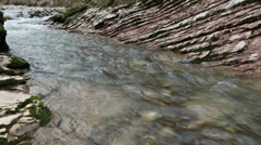 Mountain river Psakho in the suburbs of Sochi, Krasnodar region, Russia Stock Footage