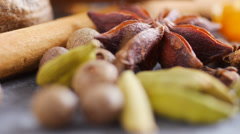 Colorful Spices, CU low angle Stock Footage
