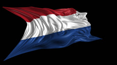 Flag of Netherlands Stock Footage
