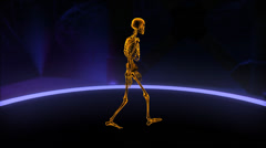 Xray walking skeleton Loop Stock Footage